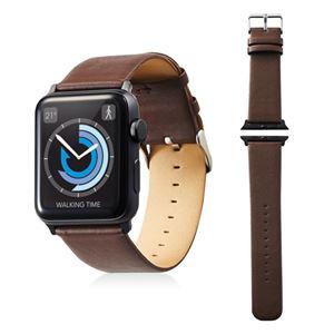 エレコム Apple Watch 42mm/ソフトレザーバンド/フラットスクエアタイプ/ブラウン AW-42BDLFSBR - 拡大画像