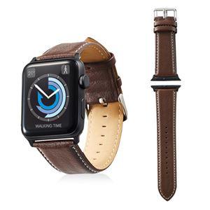 エレコム Apple Watch 42mm/ソフトレザーバンド/ラウンドボートタイプ/ブラウン AW-42BDLRBBR - 拡大画像
