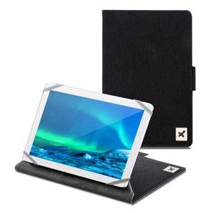 エレコム タブレット汎用ブックタイプケース/ファブリック/カメラ対応/8.5〜10.5inch/ブラック TB-10CMFBK - 拡大画像