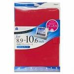 (まとめ)ナカバヤシ 汎用タブレットケース 10インチ レッド TBC-FC101505R【×2セット】