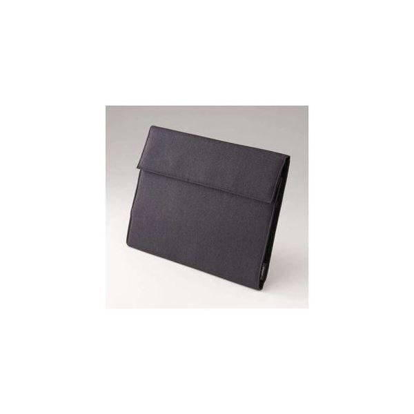 (まとめ)ナカバヤシ 12.9インチタブレット対応 クラッチケース ブラック SZC-BIBA4BK【×2セット】