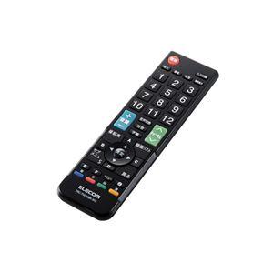 (まとめ)エレコム かんたんTVリモコン/12メーカー対応/Mサイズ/ブラック ERC-TV01MBK-MU【×2セット】 - 拡大画像