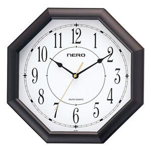 (まとめ)音の静かな八角時計 オクタゴン M80211518【×2セット】 - 拡大画像