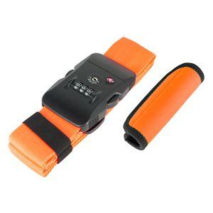 (まとめ)ミヨシ TSA対応スーツケースベルトグリップセット オレンジ MBZ-MZ03/OR【×2セット】 - 拡大画像