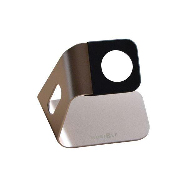 (まとめ)ミヨシ Apple Watch用 アルミスタンド ゴールド SST-14/GD【×5セット】