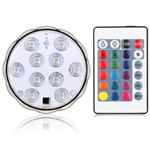 (まとめ)日本トラストテクノロジー IPX8準拠 LEDライト台座RGB16色/丸型 LEDBASE-RGBR【×5セット】