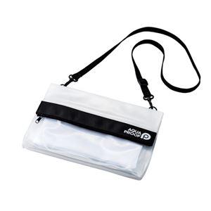 エレコム 防水・防塵バッグ サコッシュ ホワイト P-WPBSWH - 拡大画像