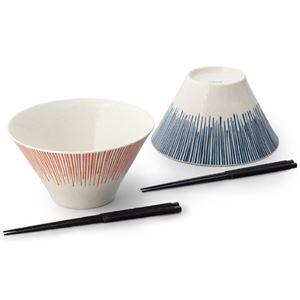 カンサイ 十草富士 ペア麺鉢 6186-019 - 拡大画像