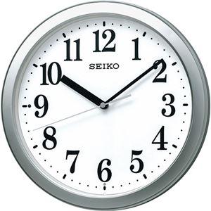 スタンダード電波掛時計 銀色メタリック C1063016 - 拡大画像