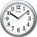 スタンダード電波掛時計 銀色メタリック C1063016