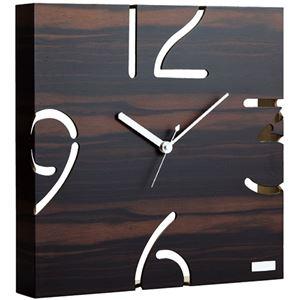 ヤマトジャパン 掛時計(黒檀) 6135-042 - 拡大画像