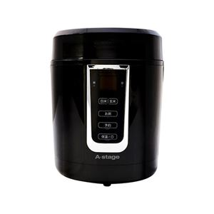 エスキュービズム A-Stage 1.5合炊き炊飯器 ブラック GRC-H15B - 拡大画像