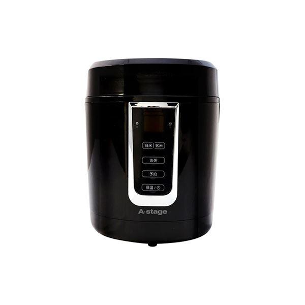 エスキュービズム A-Stage 1.5合炊き炊飯器 ブラック GRC-H15B