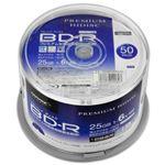 (まとめ)PREMIUM HIDISC BD-R 1回録画 6倍速 25GB 50枚 スピンドルケース 【×6個セット】 HDVBR25RP50SPX6