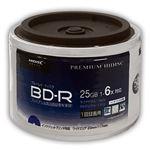 (まとめ)HIDISC BD-R 1回録画 6倍速 25GB 50枚 スタッキングバルク 【×6個セット】 HDVBR25RP50SBX6
