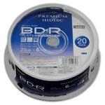 (まとめ)HIDISC BD-R 1回録画 6倍速 25GB 20枚 スピンドルケース 【×10個セット】 HDVBR25RP20SPX10