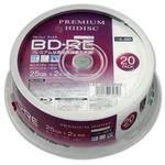 (まとめ)PREMIUM HIDISC BD-RE くり返し録画 2倍速 25GB 20Pスピンドルケース 【×10個セット】 HDVBE25NP20SPX10