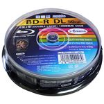 (まとめ)HIDISC 録画用BD-R DL 50GB 1-6倍速対応 10枚 【×10個セット】 HDBD-RDL6X10SPX10
