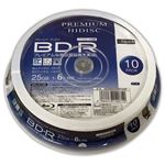 (まとめ)HIDISC BD-R 1回録画 6倍速 25GB 10枚 スピンドルケース 【×20個セット】 HDVBR25RP10SPX20