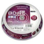 (まとめ)PREMIUM HIDISC BD-RE くり返し録画 2倍速 25GB 10Pスピンドルケース 【×20個セット】 HDVBE25NP10SPX20