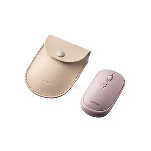 エレコム BlueLEDマウス/薄型/Bluetooth対応/4ボタン/ポーチ付/ピンク M-TM10BBPN - 拡大画像