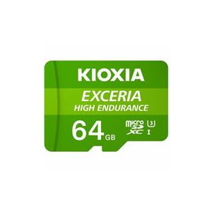 KIOXIA MicroSDカード EXCERIA HIGH ENDURANCE 64GB KEMU-A064G - 拡大画像