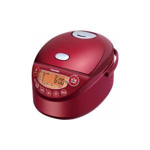 TOSHIBA IH炊飯器 備長炭鍛造かまど釜 3.5合炊き グランレッド RC-6XM-R - 拡大画像
