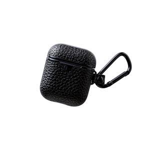 エレコム 無線充電AirPods対応アクセサリ レザーケース サイドメッキ ブラック AVA-APUCMBK - 拡大画像