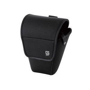 エレコム デジカメケース/GRAPH GEAR/ジャケットケース/XLサイズ/ブラック DGB-SJ01L120BK - 拡大画像
