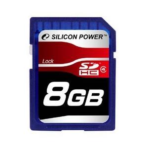 SILICON POWER(シリコンパワー) SDカード SDHC Class4 8GB - 拡大画像