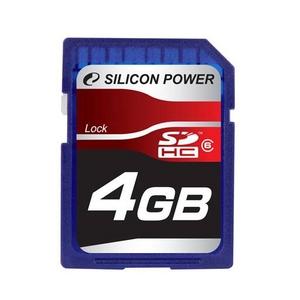 SILICON POWER(シリコンパワー) SDカード SDHC Class6 4GB - 拡大画像