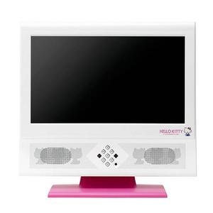 ユニデン HELLO KITTY ハローキティ 19V型地上デジタルハイビジョン液晶テレビ TL19TX1-R ブラック/レッド - 拡大画像