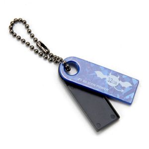 シリコンパワーUSBメモリー Touch820 16GB SP016GBUF2820V1 ブルー - 拡大画像