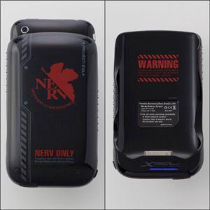 エヴァンゲリヲン iPhone3G(S)専用筐体保護型蓄電器 NERVモデル - 拡大画像
