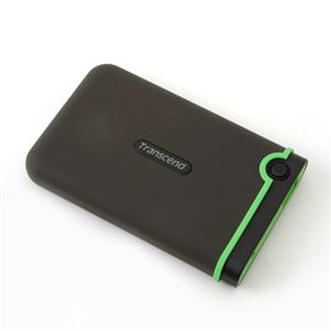 【コンパクト&大容量&タフ】トランセンド USB3.0対応 500GBポータブルHDD アンチショックタイプ  TS500GSJ25M3 - 拡大画像