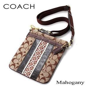 COACH(コーチ) スカーフストライプショルダーバッグ MAHOGANY/BKHMA - 拡大画像