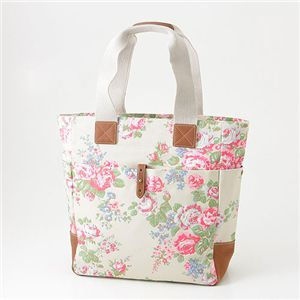 CATH KIDSTON(キャスキッドソン) 縦型トート TALL TOTE WITH LEATHER 244701・Chiswick Flower Stone - 拡大画像