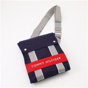 TOMMY HILFIGER(トミーヒルフィガー) ななめかけ ショルダー HARBOUR POINT II 467・Navy×Red - 拡大画像