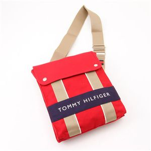 TOMMY HILFIGER(トミーヒルフィガー) ななめかけ ショルダー HARBOUR POINT II 600・Red×Navy - 拡大画像