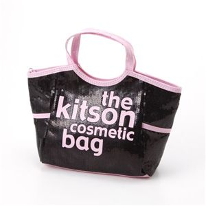 kitson(キットソン) コスメティック バッグ KSG0143・Black×L・Pink - 拡大画像