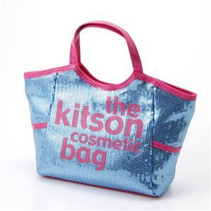 kitson(キットソン) スパンコールコスメティックバッグ(SEQUIN COSMETIC TOTE)KSG0148 Blue×Pink - 拡大画像