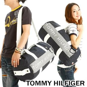 TOMMY HILFIGER(トミーヒルフィガー) デニム ボストンバッグ DUFFLE HARBOUR POINT II - 拡大画像