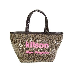 kitson(キットソン) SEQUIN MINI TOTE LEOPARD PK/BR・4003 - 拡大画像
