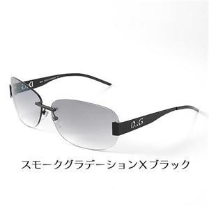 D&G サングラス 6041-01/8G スモークグラデーション×ブラック - 拡大画像