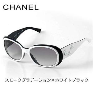 CHANEL サングラス 5113 97411/スモークグラデーション×ホワイトブラック - 拡大画像