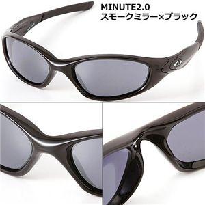 OAKLEY(オークリー) サングラス MINUTE2.0-P BK/BK/スモークミラー×ブラック - 拡大画像