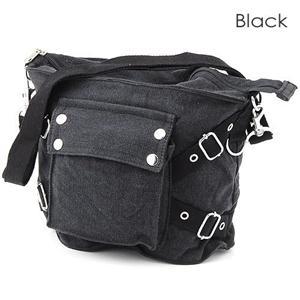 ROTHCO社 ヴィンテージ ワンポケットキャンバスバッグ ブラック - 拡大画像