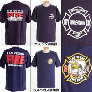 米国着用禁止Tシャツ ボストン消防隊 L - 拡大画像