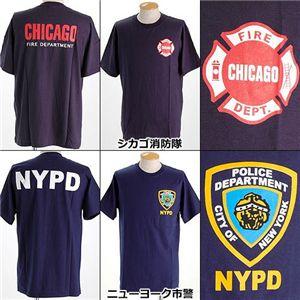 米国着用禁止Tシャツ シカゴ消防隊 M - 拡大画像