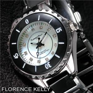 FLORENCE KELLY ブラックセラミック FLK-3900-3 - 拡大画像